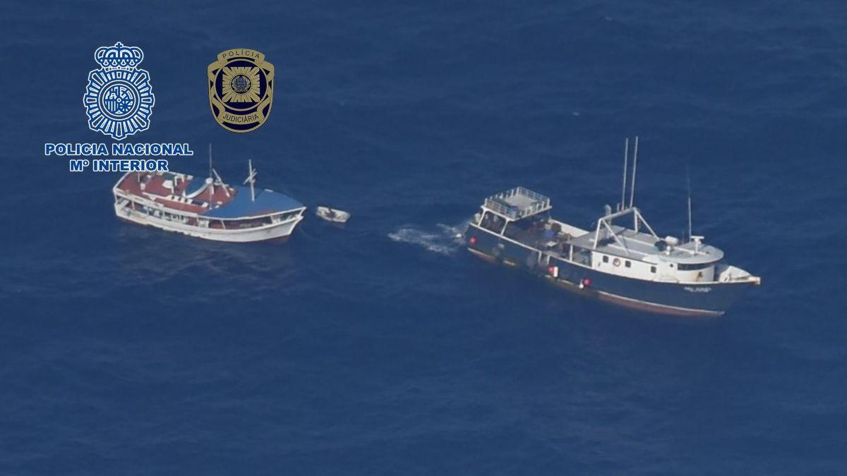 Interceptados más 4.200 kilos de cocaína en un pesquero venezolano con destino a Galicia en una operación internacional.
