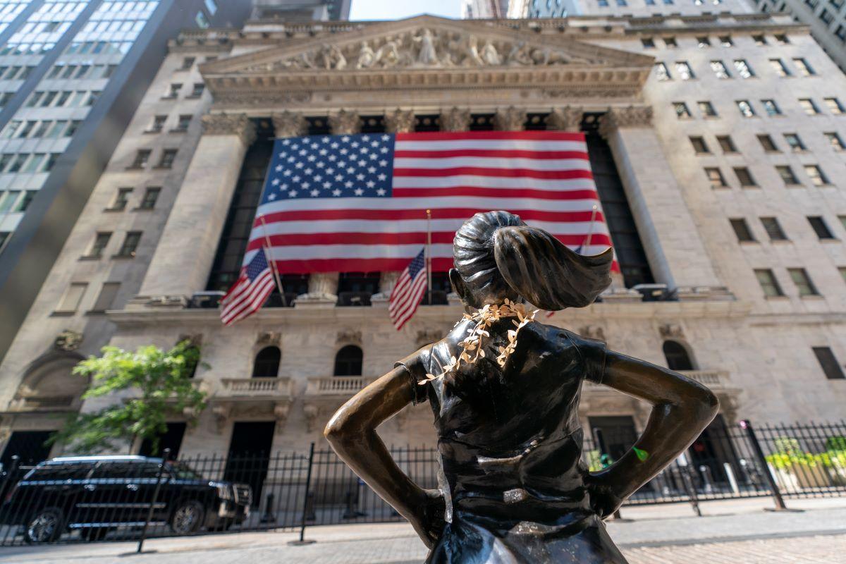 Estatua frente a la Bolsa de Nueva York.
