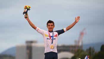 Ecuador conquista el Oro en ciclismo con Richard Carapaz