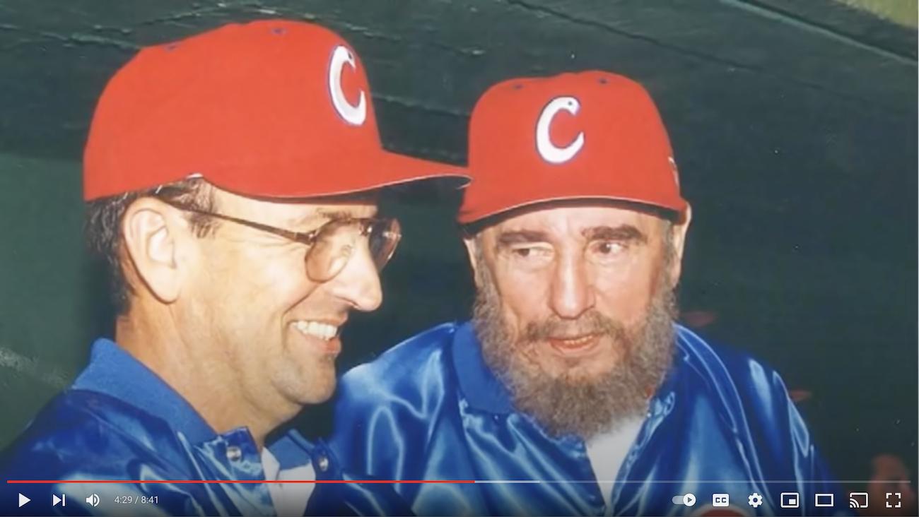 Carlos Lage y Fidel Castro.