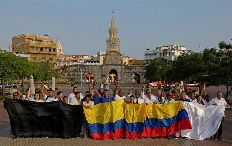 Decenas de periodistas se reunieron este lunes Cartagena de Indias