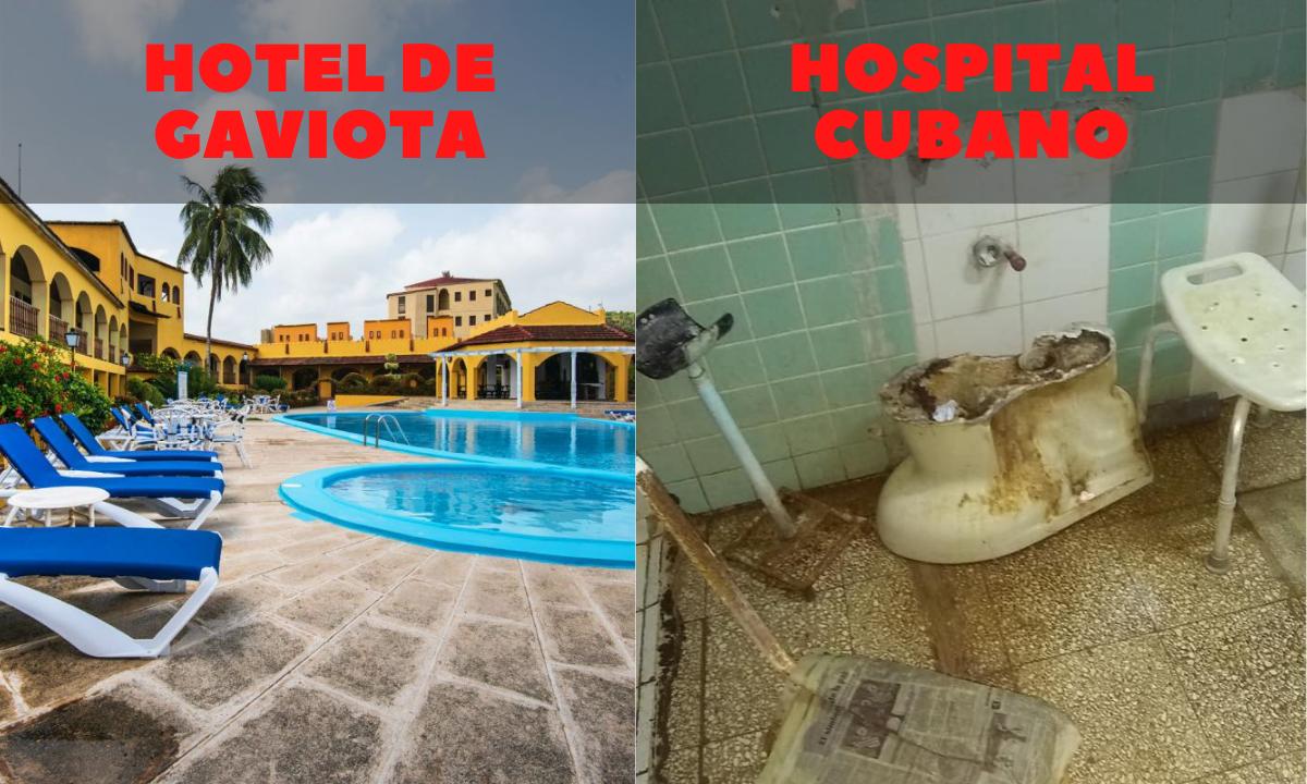 Militares cubanos reabren hoteles; hospitales colapsan