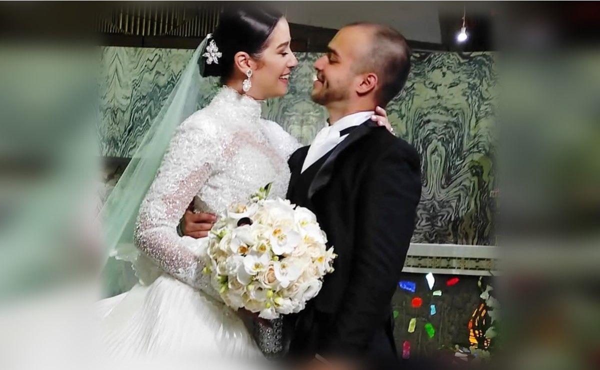 Los actores Daniela Alvarado y José Manuel Suárez el día de su matrimonio por la Iglesia.