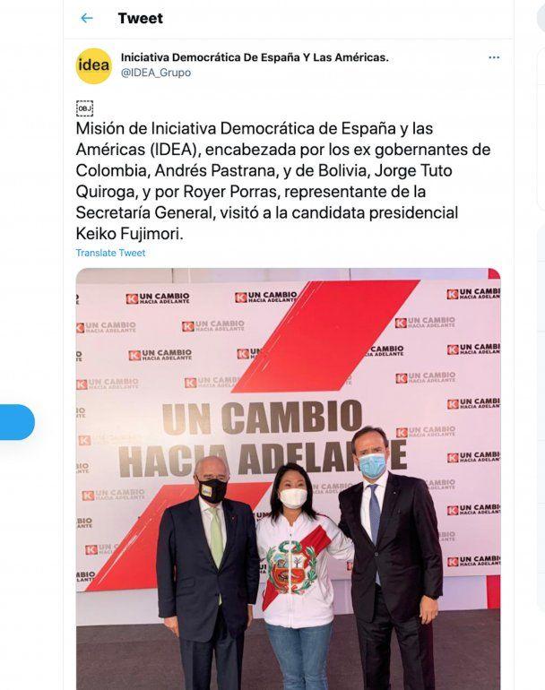 Misión de Iniciativa Democrática de España y las Américas (IDEA)