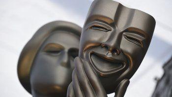 En esta foto del 27 de enero del 2019, una estatua de El Actor en la alfombra roja de los Premios SAG del Sindicato de Actores de la Pantalla en Los Angeles. La 26 entrega anual de los Premios SAG es el 19 de enero del 2020.