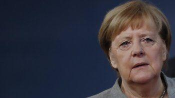 La canciller alemana Angela Merkel llega para una cumbre de la Unión Europea en Bruselas el viernes 13 de diciembre de 2019. (Christian Hartmann, Pool Photo via AP)