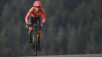El colombiano Nairo Quintana participa en la vigésima etapa del Tour de Francia, el sábado 19 de septiembre de 2020, entre Lure y La Planche de Belles Filles