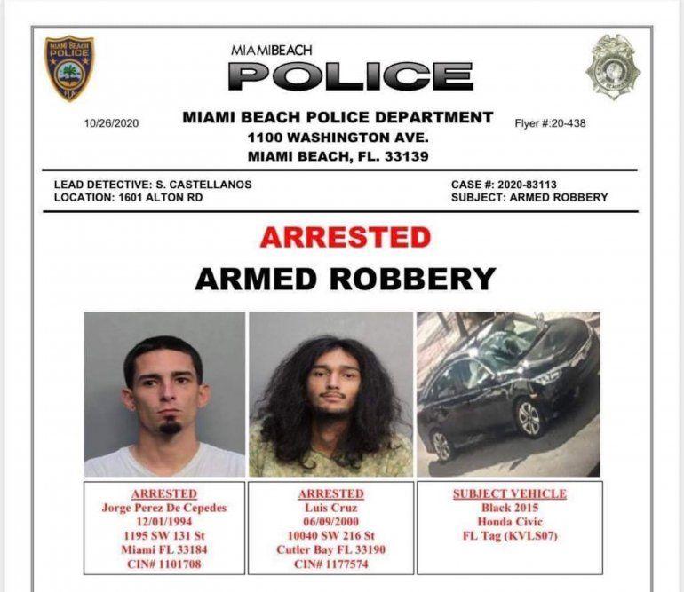 Imágenes de los arrestados