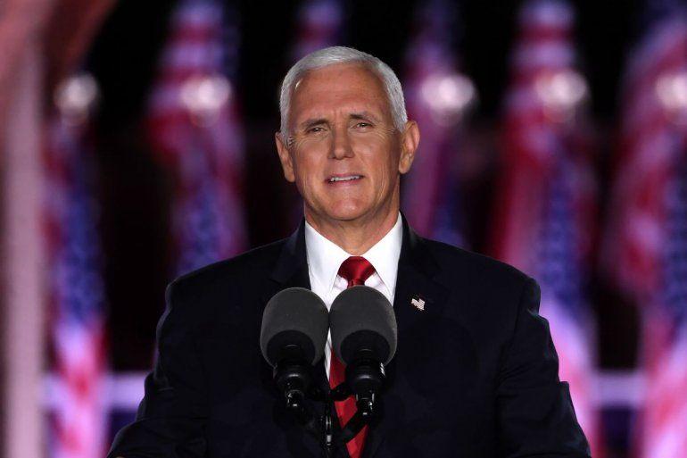 El vicepresidente Mike Pence aceptó la nominación para la reelección a la candidatura a la vicepresidencia de Estados Unidos