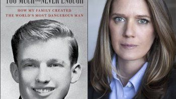 En esta combinación de fotos la portada del libro Too Much and Never Enough: How My Family Created the World's Most Dangerous Man y un portaretrato de su autora Mary L. Trump