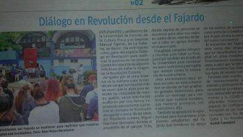 El diario oficialista Juventud Rebelde publicó un artículo, en medio de una ofensiva propagandística, donde subraya el apoyo de las organizaciones de masas y estudiantes en la la Universidad de Ciencias de la Cultura Física y el Deporte Manuel Fajardo, en La Habana.