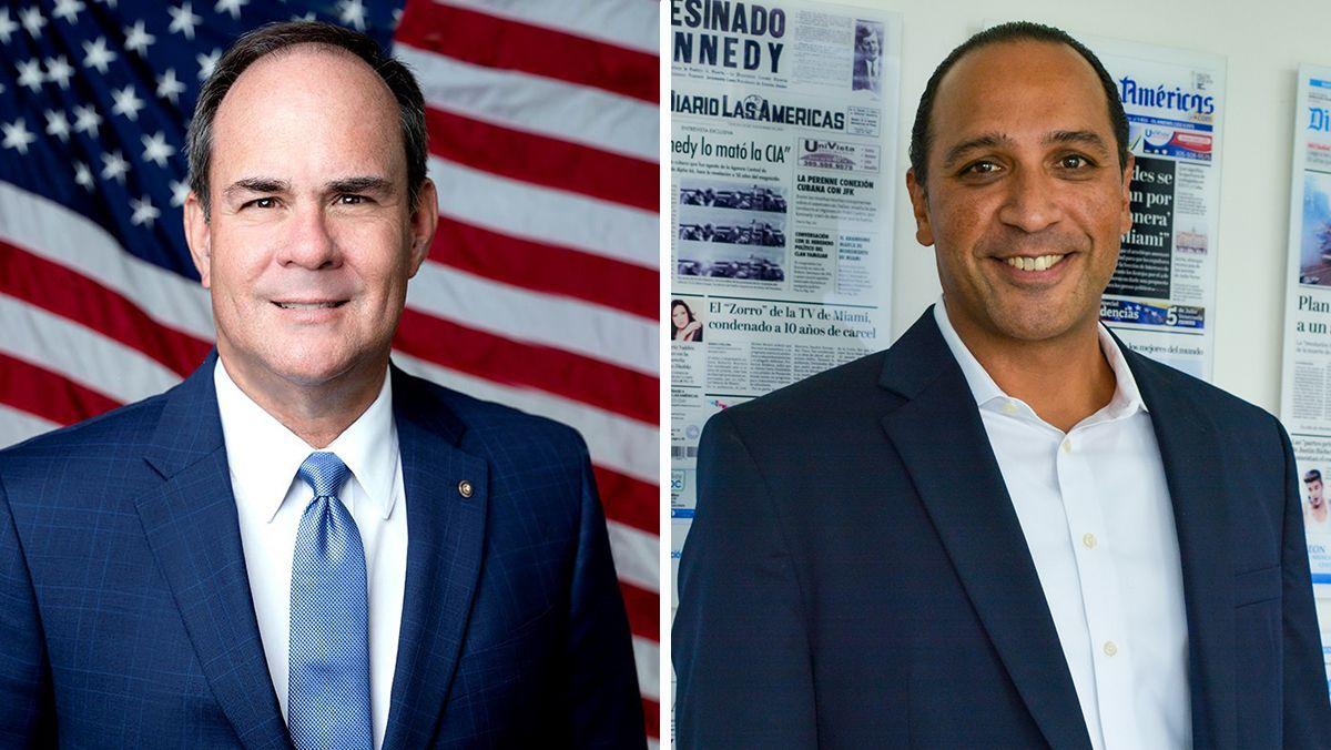 Los candidatos a la alcaldía de Homestead Steven Losner y Elvis Maldonado.
