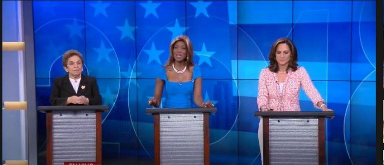 Las tres candidatas del distrito 27 se enfrentaron en Univision 23. De izq a derecha: Donna Shalala (demócrata)