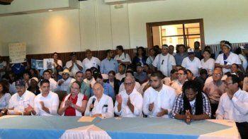 Integrantes de la Coalición Nacional que se han agrupado para participar en las elecciones de 2021 junto al dictador Daniel Ortega, el único candidato que tiene el izquierdista Frente Sandinista de Liberación Nacional.