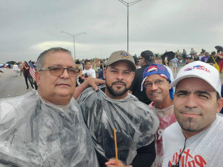 Varios integrantes de la masonería en el exilio se sumaron a las manifestaciones en Estados Unidos para apoyar a quienes protestan en las calles de la isla y piden libertad