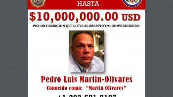 Pedro Luis Martín Olivares, es uno de los tres exfuncionarios venezolanos por los que Estados Unidos ofrece una millonaria recompensa que lleva a su captura.