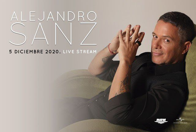 Imagen del concierto streaming de Alejandro Sanz