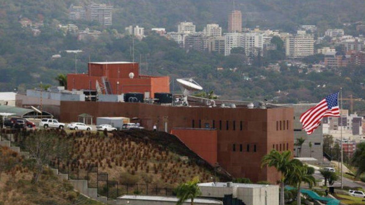 Edificio de la Embajada de EEUU en Caracas, Venezuela.