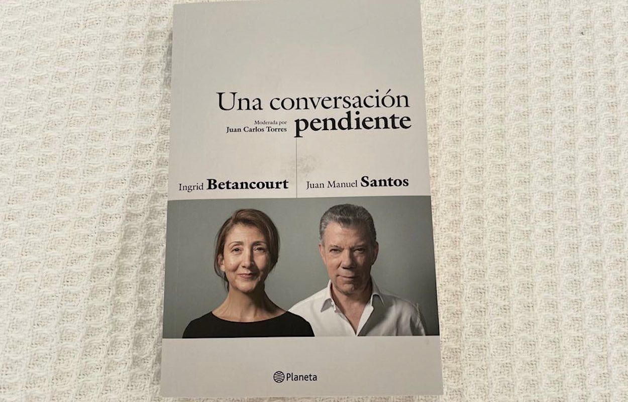Captura de pantalla de Twitter del mensaje difundido por el expresidente de Colombia Juan Manuel Santos.
