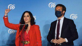 Centro derecha arrasa en elecciones regionales de Madrid