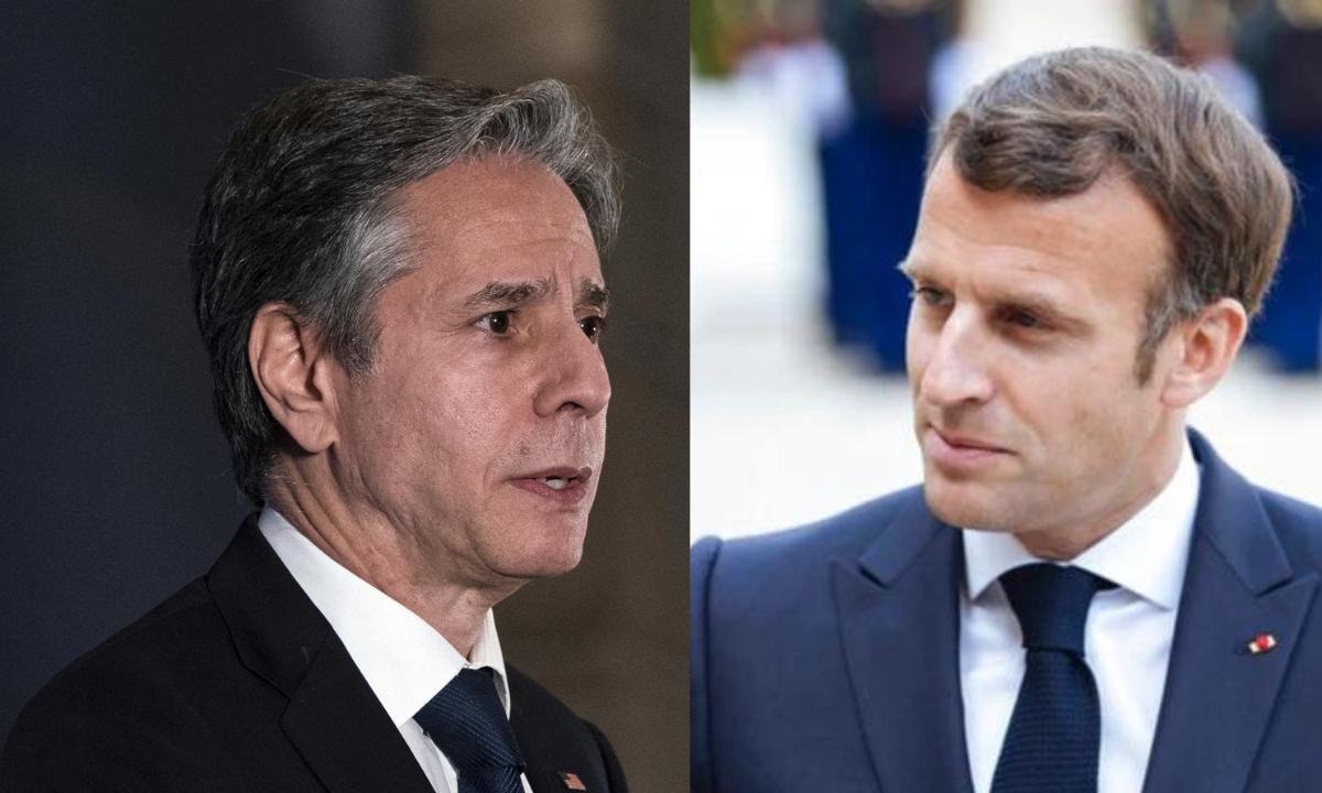 Blinken y Macron se reunen tras crisis de los submarinos