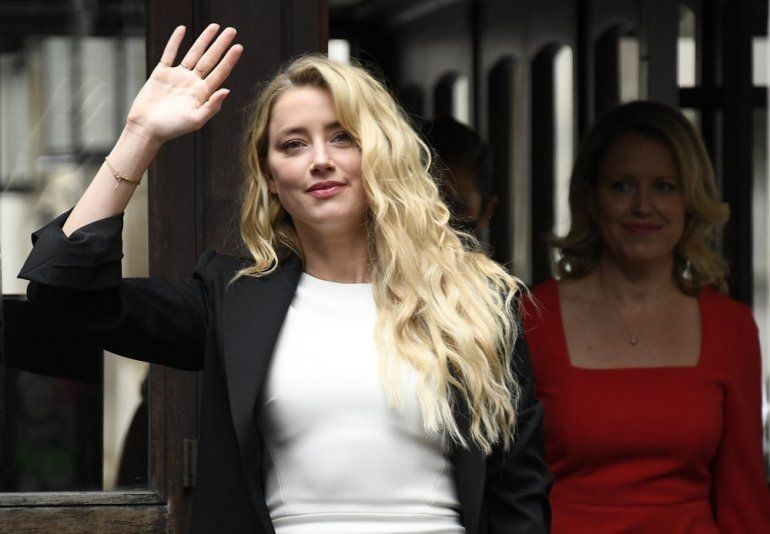 Amber Heard llega a High Court