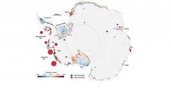 Geophysical Research Letters informa de la primera evidencia cuantificable basada en la física de que la reducción de barreras de hielo en la Antártida causa que fluya más hielo del interior al mar.
