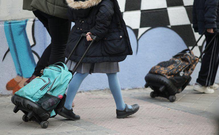 Alumnos de la Comunidad de Madrid acuden al colegio un día antes delcierre temporal de guarderías