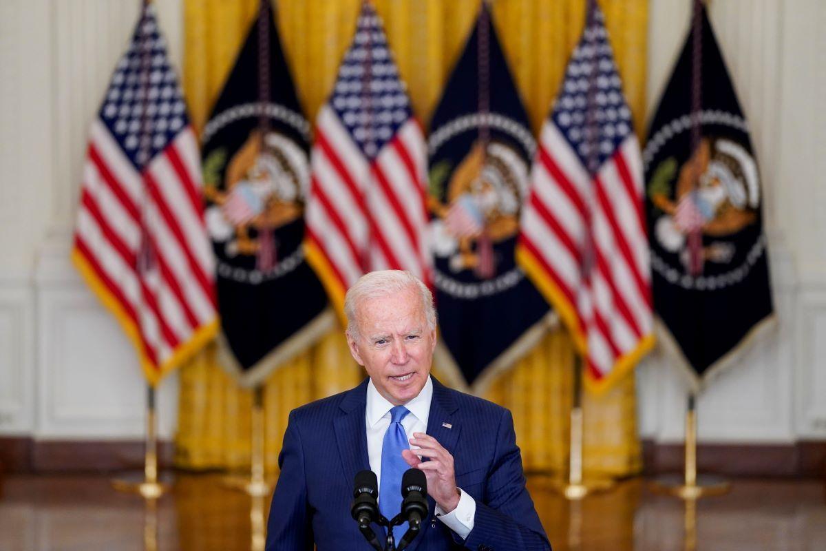 El presidente Joe Biden habla sobre temas económicos en la Sala Este de la Casa Blanca, Washington.