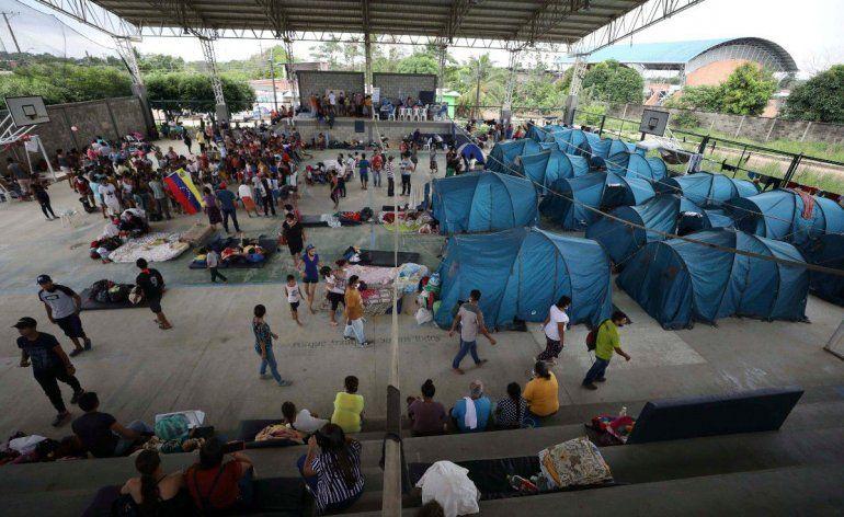 Decenas de venezolanos están en un refugio en Arauquita