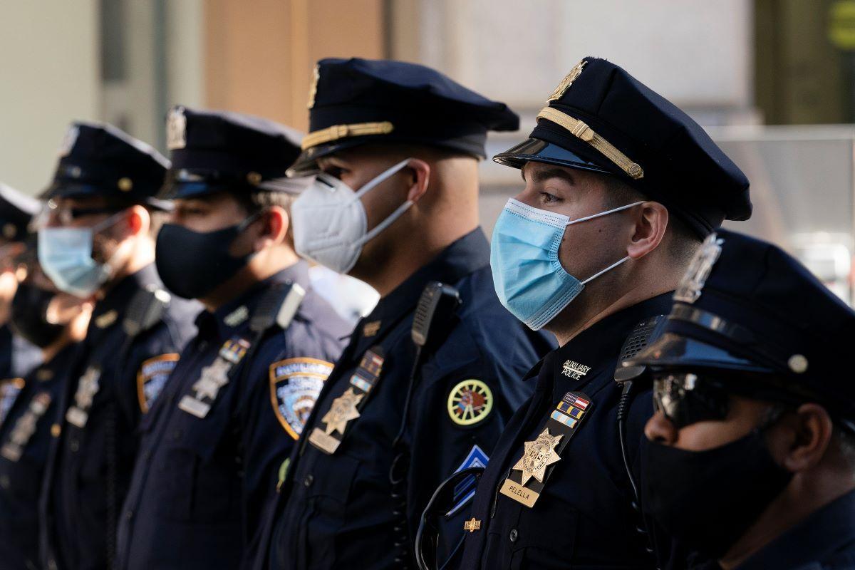 Agentes del Departamento de Policía de Nueva York.