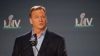 Considerado como el hombre de los deportes más poderoso de Estados Unidos, el comisionado de la NFL Roger Goodell desplegó lo mejor de su esgrima verbal durante su informe anual ante la prensa, el miércoles 29 de enero del 2020 en Miami.