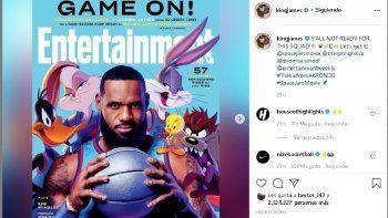 LeBron, que este domingo será el capitán del equipo de la Conferencia Oeste de la NBA, compartió varias imágenes en sus redes sociales con su uniforme de Tune Squad.