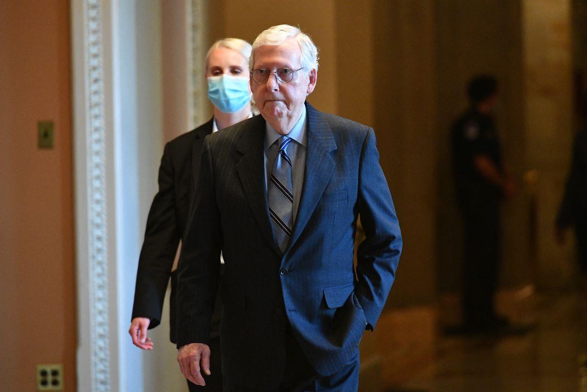 El líder de los republicanos en el Senado, Mitch McConnell.