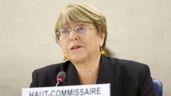 La Alta Comisionada de las Naciones Unidas para los Derechos Humanos, Michelle Bachelet, asiste a la apertura de la 42ª sesión del Consejo de Derechos Humanos en la sede europea de las Naciones Unidas en Ginebra, Suiza, el lunes 9 de septiembre de 2019.