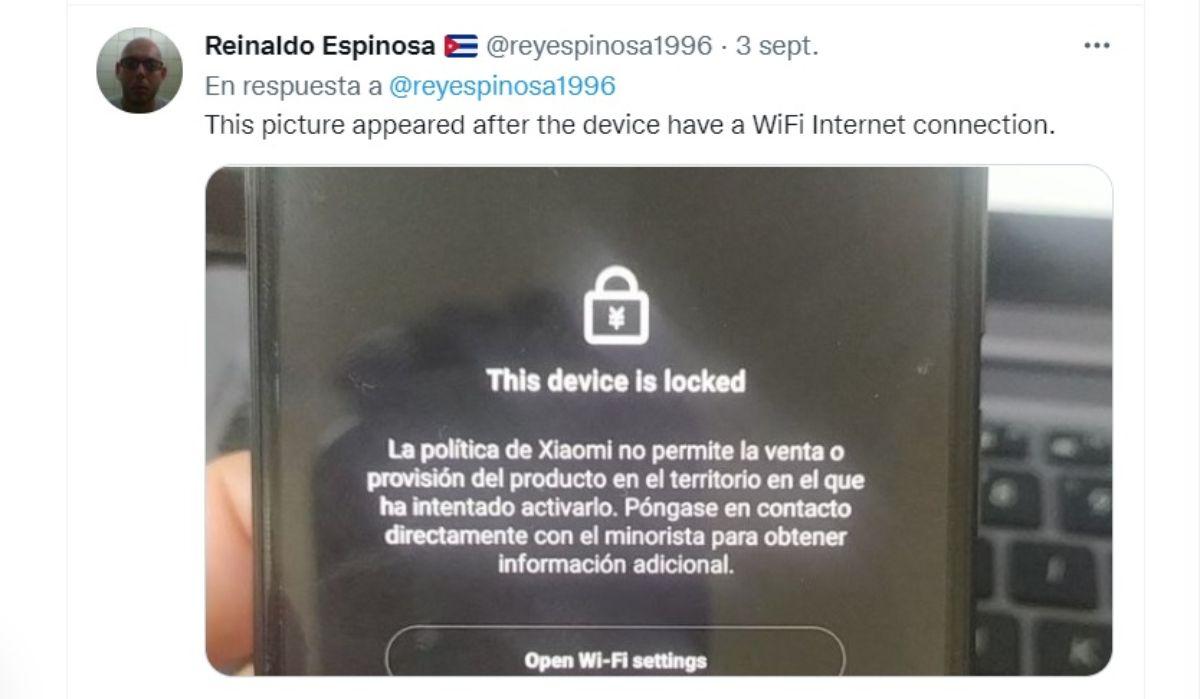 Captura de pantalla tuit Reynaldo Espinosa.