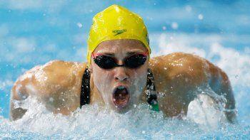 En imagen de archivo del 28 de julio de 2014, la australiana Maddie Groves compite en la final de 200 metros mariposa para mujeres en los Juegos de la Buena Voluntad de 2014 en Glasgow, Escocia