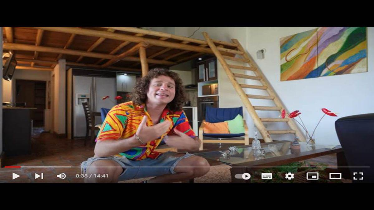 El youtuber mexicano Luisito Comunica muestra su nueva casa en Venezuela.