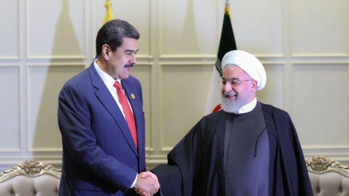 El dictador de Venezuela Nicolás Maduro y el presidente de Irán Hasán Rohani.