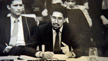 Foto difundida en Managua el 22 de junio de 2021 por Cristian Tinoco, hija del exvicecanciller nicaragüense y exintegrante del Frente Sandinista de Liberación Nacional (FSLN) Víctor Hugo Tinoco, de él en Nueva York en 1979.