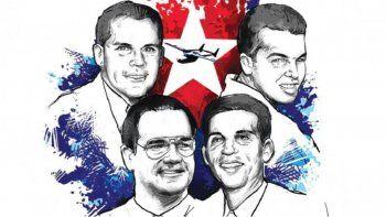 Armando Alejandre, Carlos Costa, Mario de la Peña y Pablo Morales murieron el 24 de febrero de 1996 cuando las avionetas Cessna en las que volaban fueron abatidas por aviones cubanos de guerra, en espacio aéreo internacional.