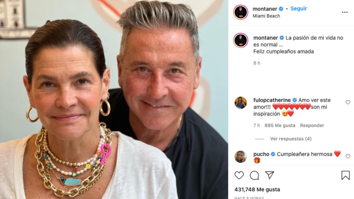 Ricardo Montaner y su esposa Marlene