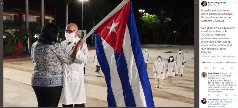Foto publicada por el canciller de la dictacura cubana