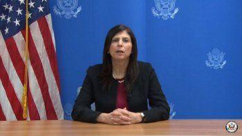 La coordinadora de la Oficina de Asuntos Cubanos del Departamento de Estado de Estados Unidos, Mara Tekach, hizo un llamado al régimen de La Habana a que abandone la obstrucción de la ayuda humanitaria enviada de Miami a la Isla