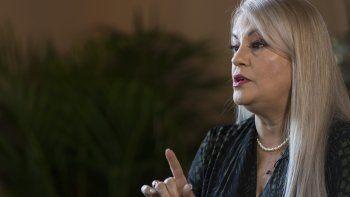 Foto de archivo del 16 de agosto de 2019, de la gobernadora de Puerto Rico, Wanda Vázquez, durante una entrevista con The Associated Press en la residencia oficial La Fortaleza, en San Juan, Puerto Rico.