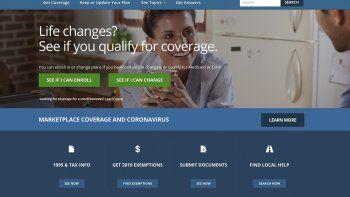 Esta imagen de archivo facilitada por los Centros para Servicios de Medicare y Medicaid de Estados Unidos muestra la página en internet de HealthCare.gov, en la que las personas pueden consultar si reúnen los requisitos para acceder a un seguro médico de acuerdo con la Ley de Salud Asequible.