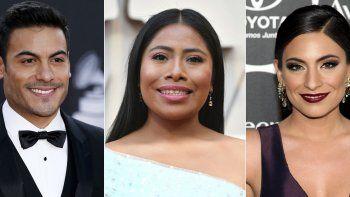 En esta combinación de fotos, de izquierda a derecha, Carlos Rivera, Yalitza Aparicio y Ana Brenda Contreras, quienes fungirán como anfitriones de la 21ra entrega anual de los Latin Grammy el 19 de noviembre.