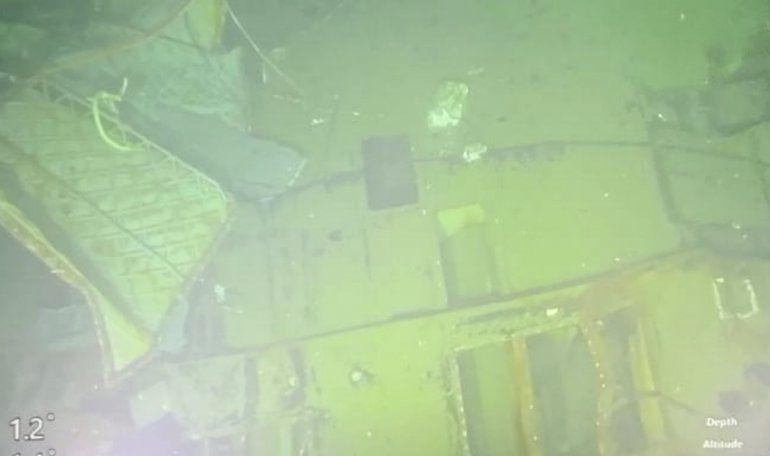Imagen sin fecha proporcionada el domingo 25 de abril de 2021 por la Armada de Indonesia de partes del submarino KRI Nanggala que se hundió en el mar de Bali