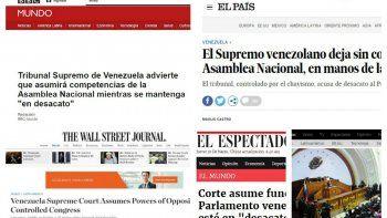 Medios como El País (España) El Espectador (Colombia) The Wall Street Journal (EEUU) O Globo (Brasil) El Mundo (España) BBC (Reino Unido) CNN (EEUU), se hicieron eco de la sentencia