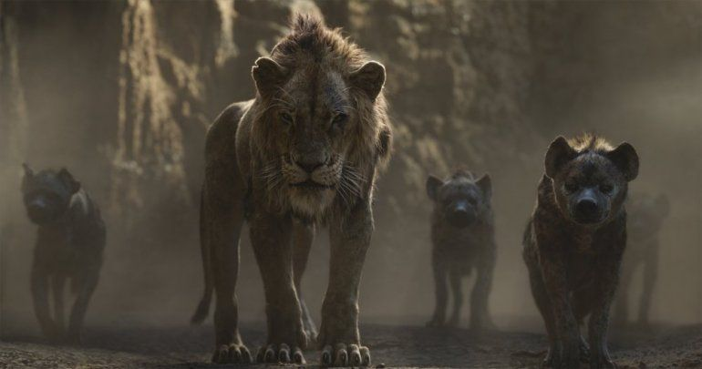"Una escena de The Lion King en una imagen proporcionada por Walt Disney Pictures. El uso de la pared de video LED que se empleó en ""The Lion King"" y ""The Mandalorian"" se podría generalizar a medida que Hollywood retoma la producción durante la pandemia."